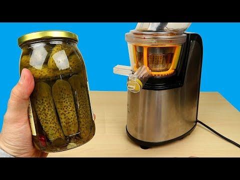 Бедная соковыжималка! Сок из Маринованных огурцов и Кукурузы! Пробую на вкус! Alex Boyko