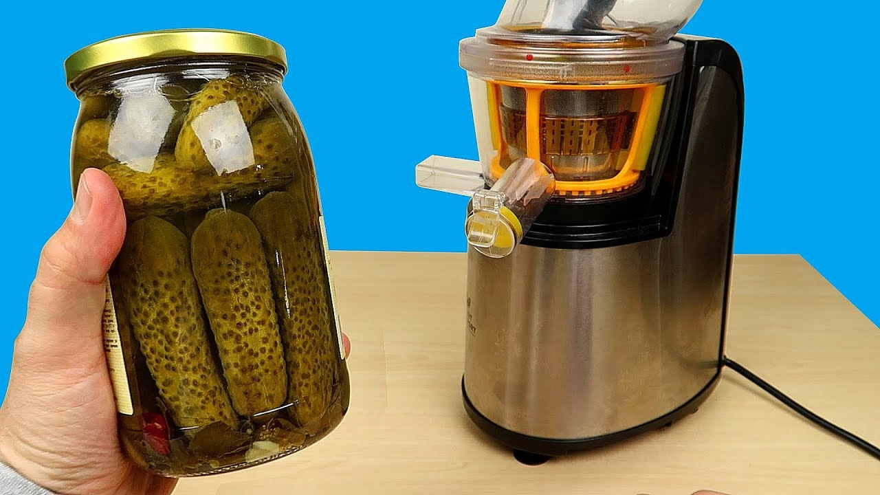 Бедная соковыжималка! Сок из Маринованных огурцов и Кукурузы! Пробую на вкус! Alex Boyko|хрень всякую смотрю на