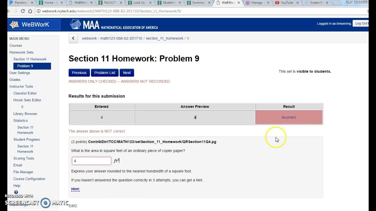 Introduction to Webwork: Math 123 - YouTube