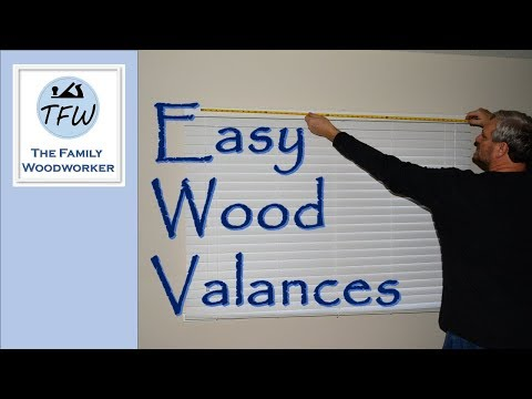 Easy Wood Window Valances