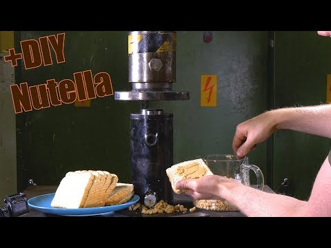 Making Peanut Butter with Hydraulic Press