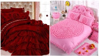 Most beautiful expensive bridal bed sheets design