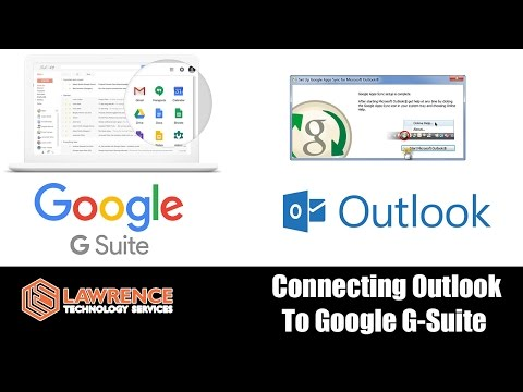 How to Connect Microsoft Outlook to Google G Suite / Google Apps