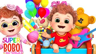 Indoor playground for kids at play are with Funny kids Have a fun day- ABC kids - Blue Fish Songs