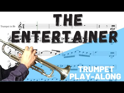The Entertainer Trumpet In Bb Solo. Play-Along/Backing Track. Free Music!