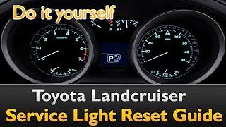 Toyota Landcruiser Service Indicator Reset