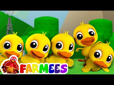 Five Little Ducks  Childrens Song For Kids  Nursery Rhyme For Ba  Farmees