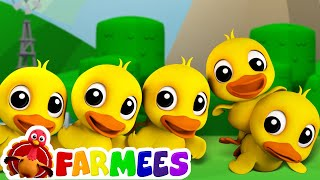 Video Five Little Ducks | Childrens Song For Kids | Nursery Rhyme For Baby by Farmees download MP3, 3GP, MP4, WEBM, AVI, FLV September 2018