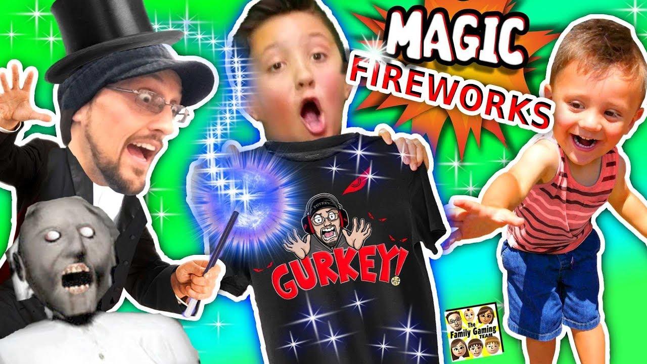 GURKEY MAGIC!!  Fireworks Tricks (FGTEEV Granny Shopping Vlog)