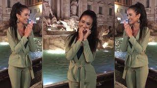 Бузова в Риме кидает монетки в фонтан