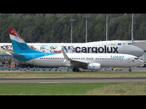 20+ min | Plane Spotting at Luxembourg Findel | Amazing Traffic!