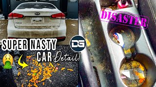 Super Cleaning a DISASTER Kia Forte! | First Wash and Clean in Years Nasty Detailing TRANSFORMATION!