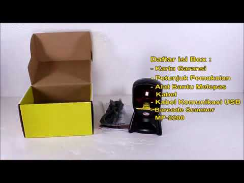 Unboxing MINIPOS MP 2200 Omni Laser Barcode Scanner Gold