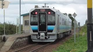 JR林崎駅 GV-E400系 試運転 到着&発車 2020.10.26