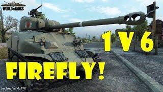 World of Tanks - PURE Gameplay [SHERMAN FIREFLY | 10 KILLS, 1v6 by Rico_19]