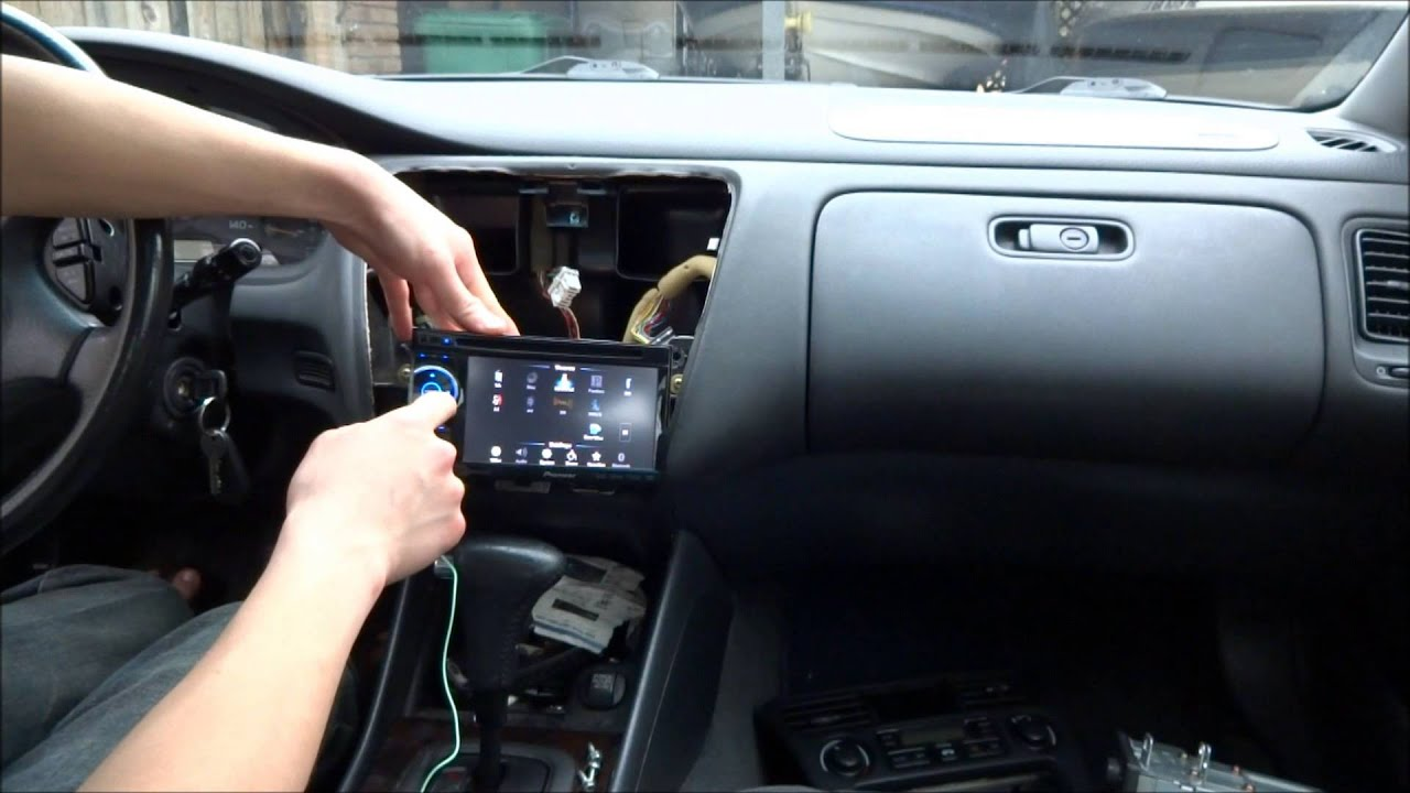 how to install car stereo pioneer avh 2400 in 2000 honda accord  [ 1280 x 720 Pixel ]