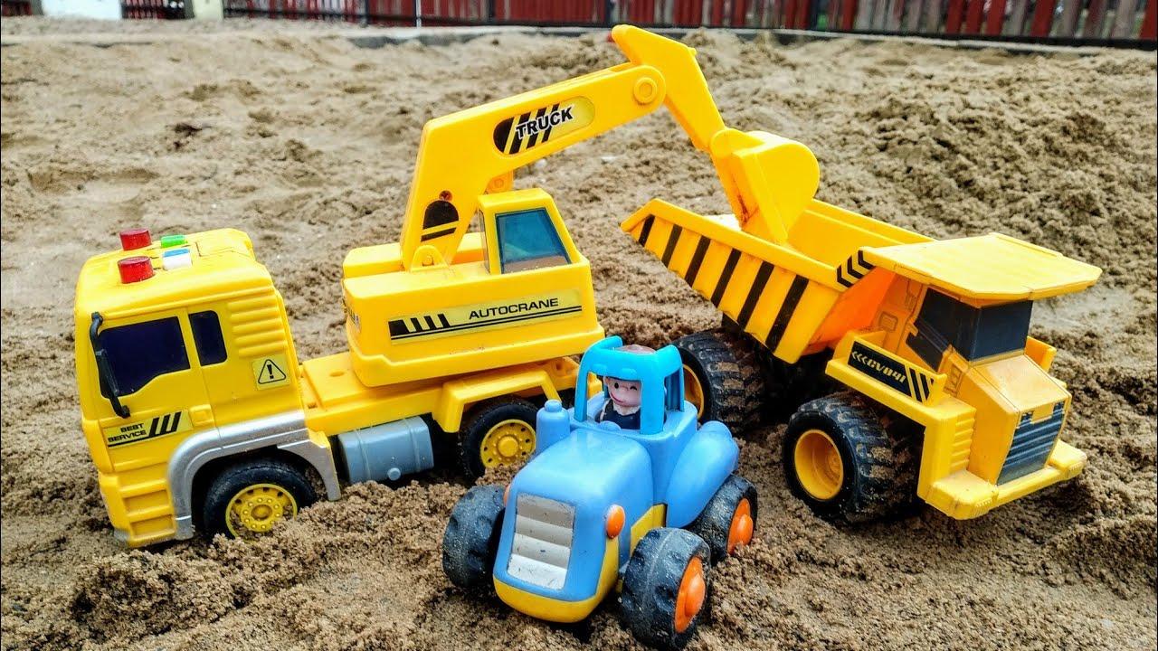 Мультики про машинки игрушки. Синий трактор и строительная ...