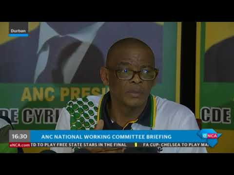 Ace Magashule gives feedback on NWC meeting