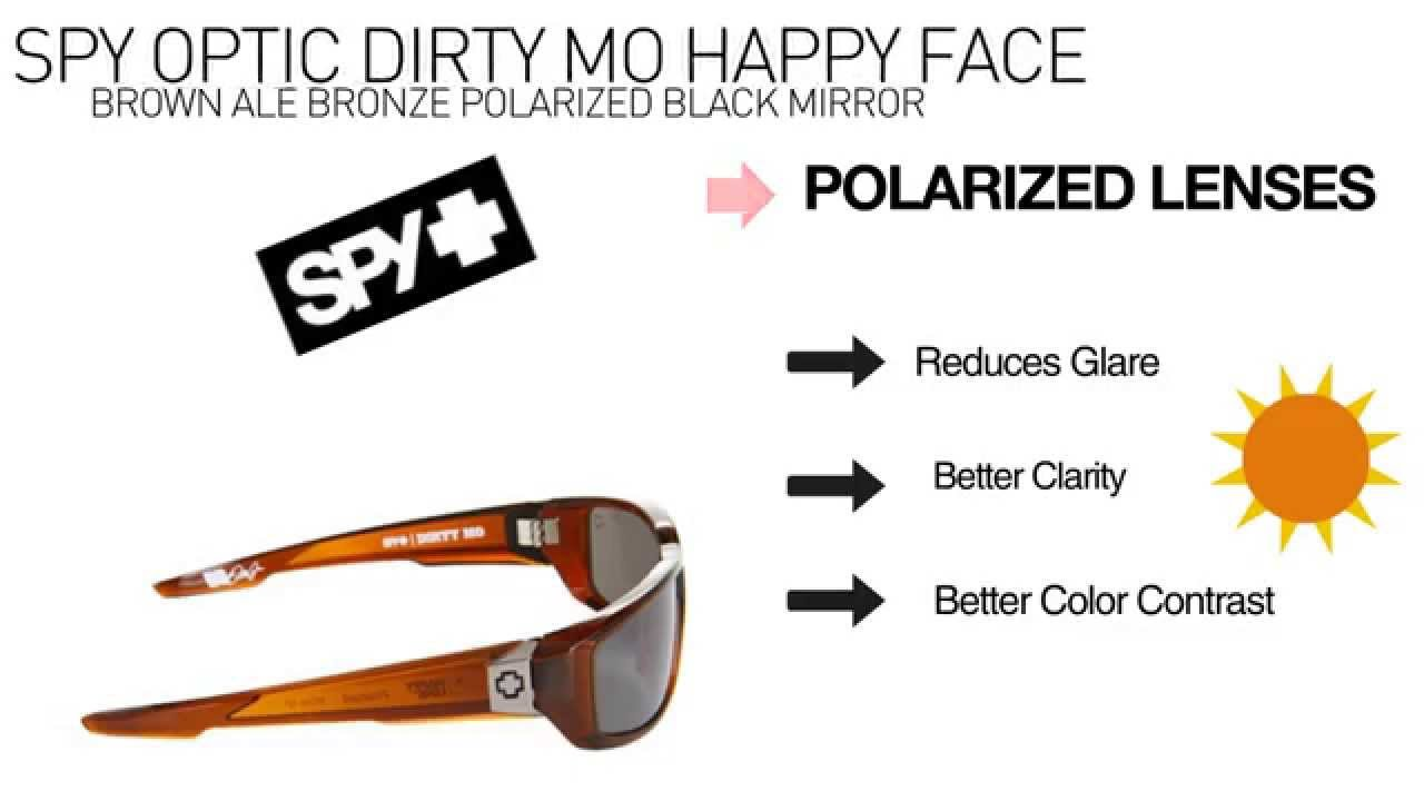 63a74a2780 Spy Dirty Mo Happy Face Brown   Bronze Polarized Sunglasses Review ...