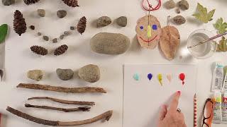 Kids Art Week - Lesson 4: Nature Faces