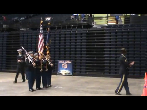 North Salem HS JROTC Lady Vikings Color Guard (Unarmed Drill Team) @ The  Nationals 5 May 2017