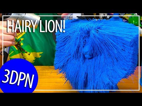 3D Printing The Worlds Largest Hairy Lion On The GMax 3D Printer