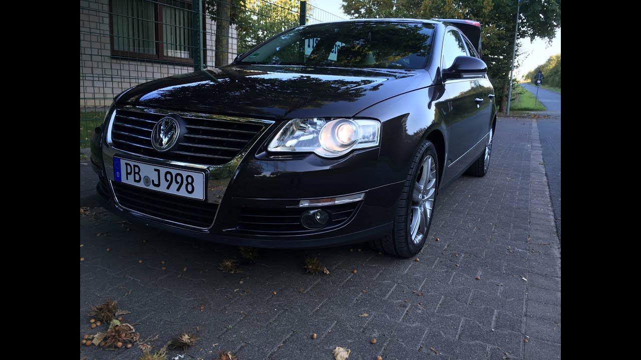 vw passat 3c b6 1 6 fsi highline review mein erstes auto youtube. Black Bedroom Furniture Sets. Home Design Ideas