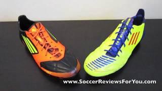 Adidas F50 adizero miCoach Leather VS Adidas F50 adizero Leather - Comparison