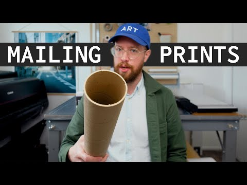 How I Pack Large Art Prints For Shipping