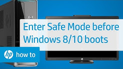 How To Enter Safe Mode Before Windows 10 or 8 Boots | HP Computers | HP