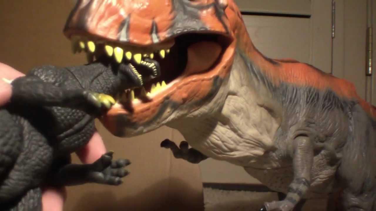 Jurassic park 3 spinosaurus vs tyrannosaurus rex toys