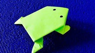 Оригами 🍄 ЛЯГУШКА- ПОПРЫГУШКА🍄 ПОДЕЛКИ ИЗ БУМАГИ🍄