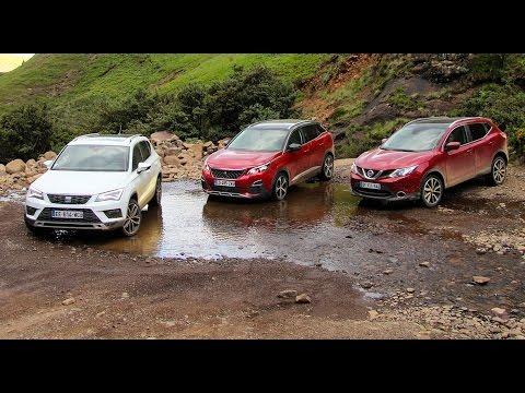 2017 Peugeot 3008 vs Seat Ateca vs Nissan Qashqai [PART. 2/3] : essai tout terrain