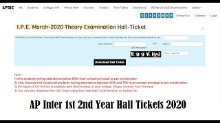 BIEAP Inter Hall Tickets March 2020   AP Inter 1st 2nd Year Hall Tickets Out