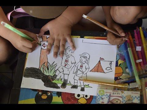 Lomba Melukis Bersama Paint Together Pesta Siaga Banyuwangi Youtube