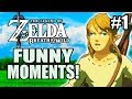 Zelda: Breath of the Wild Funny Moments Part 1 - BIGGEST NOOB FAILS!