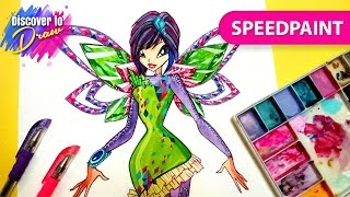 #Winxclub #drawing how to draw #Tecna tynix #Speedpainting