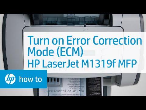 Turn on Error Correction Mode (ECM) - HP LaserJet M1319f