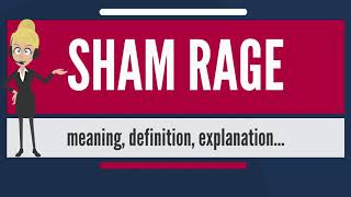 What is SHAM RAGE? What does SHAM RAGE mean? SHAM RAGE meaning, definition & explanation
