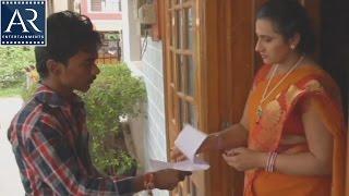 Mallu Aunty with courier Boy | Kasitho Movie Scenes | AR Entertainments