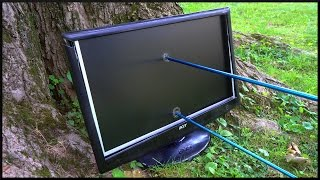 Computer Monitor vs Bow n Arrow!