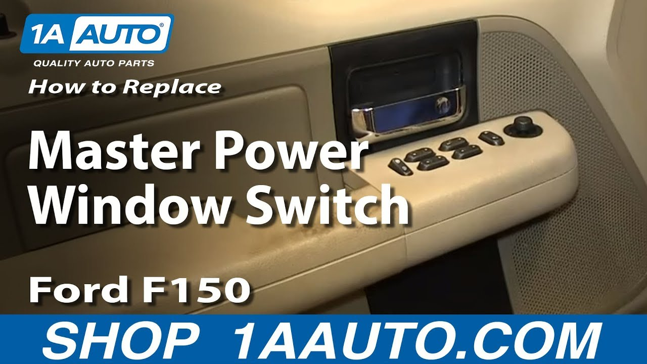 How to install replace driver 4 button master power window for 2002 ford explorer master window switch