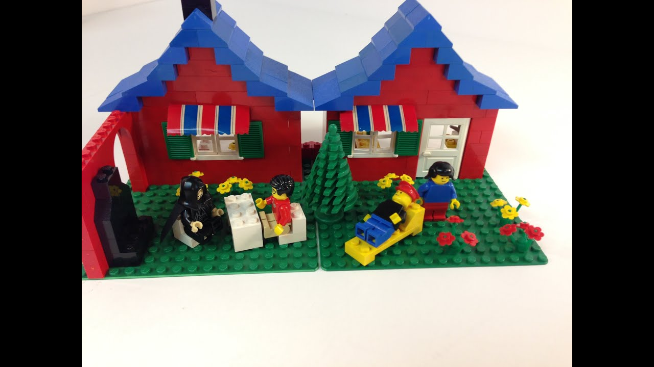 Lego 376 town house with garden set from 1978 vintage for Modele maison lego classic