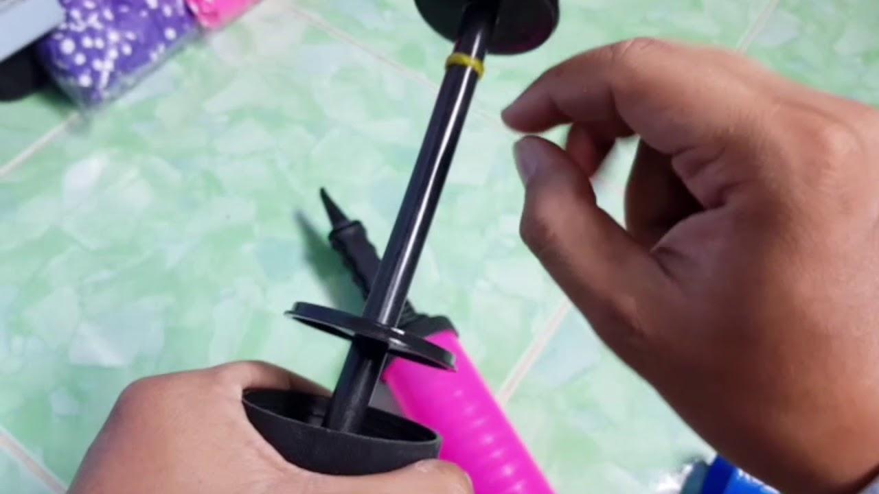 Hướng dẫn làm thế nào sửa ống bơm bong bóng bằng tay  tại nhà khi bị hư của Vua bong bóng shop.