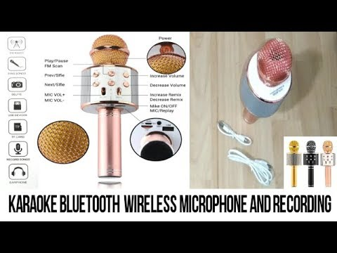 Karaoke Bluetooth  wireless microphone and record