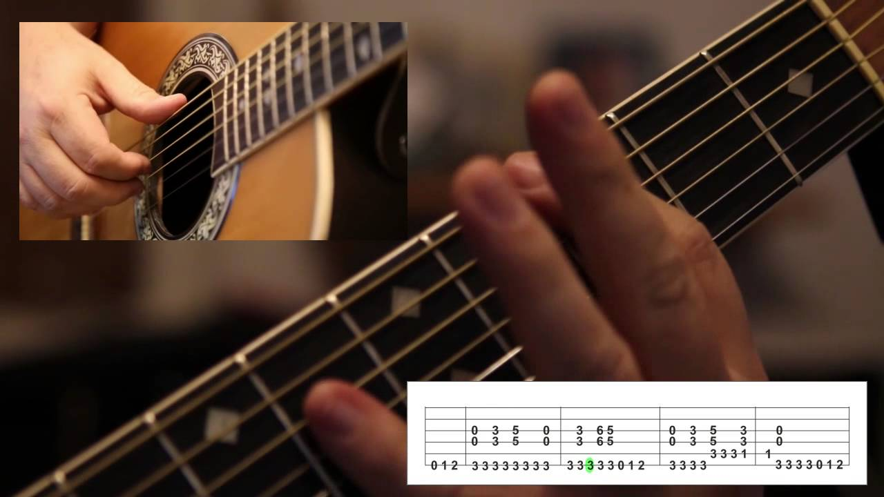 How To Play Smoke On The Water On Acoustic Guitar Youtube