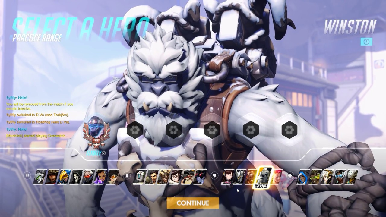 Winston Yeti Skin (First Person) - YouTube