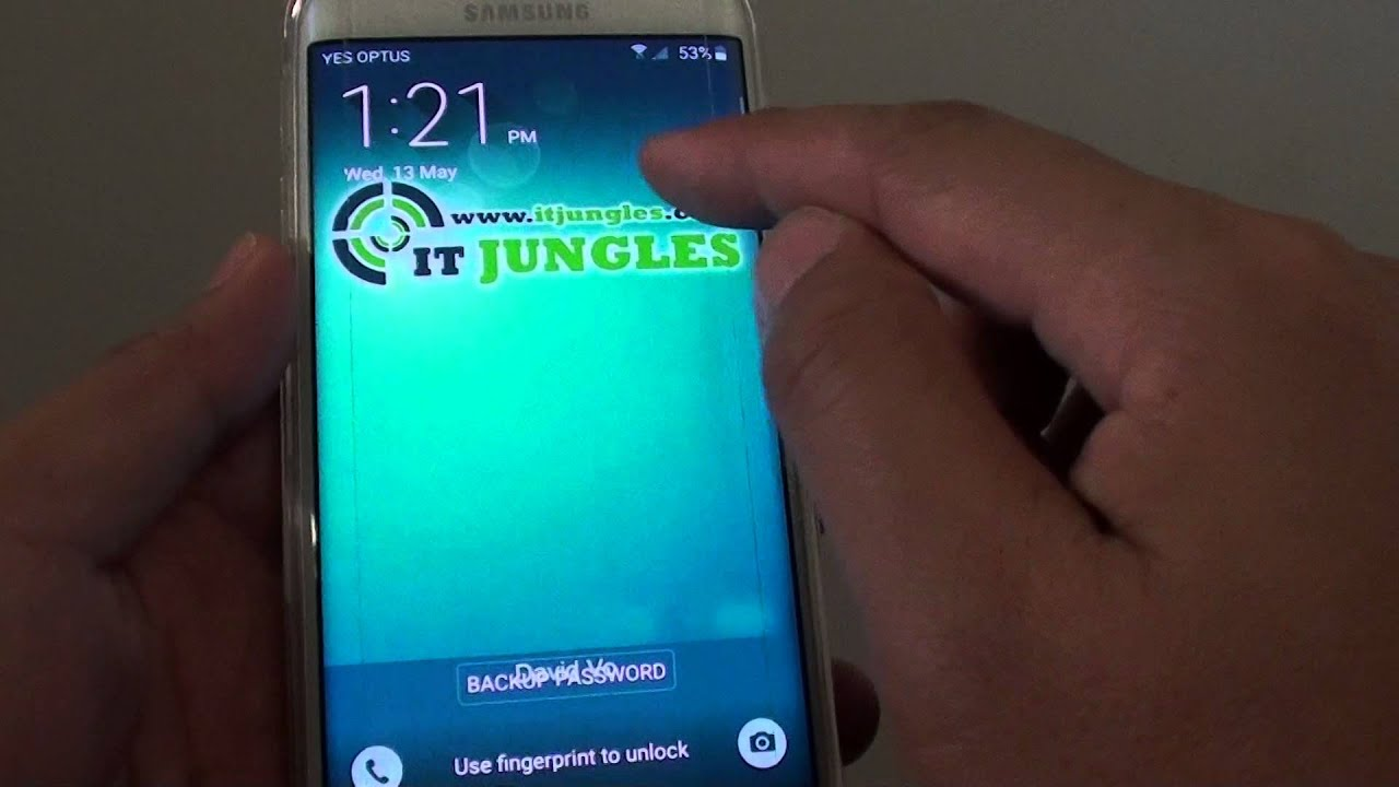 Samsung Galaxy S6 Edge How To Enable Disable Weather Widget
