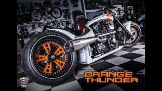 "⭐️⭐️ Dragstyle Custombike ""Orange Thunder"" by Walz Hardcore Cycles - CustomBike Review"