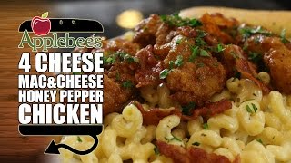 HOW TO MAKE Applebees Four Cheese Mac & Honey Pepper Chicken Recipe Remake  |  HellthyJunkFood